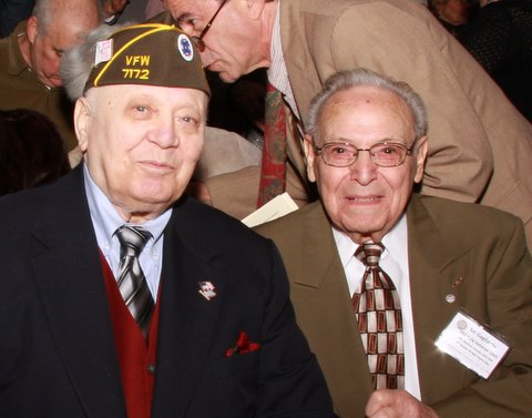Frank Moneleone, OSS, radio operator for OSS spy Moe Berg, with Salvatore Gagliardo, also OSS Italy.
