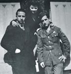 George and Helias Doundoulakis in Cairo, Egypt, with cousin Joanna, 1945.