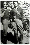 1942. Captain Patrick Leigh Fermor, right, with George Doundoulakis in the Psiloritis Mountains.