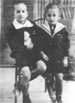 George and Helias Doundoulakis in  grade school, Crete, Greece.