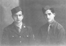 Staff Sergeant George Doundoulakis and Corporal Helias Doundoulakis, enlistment day, September 16th, 1943, United States Army HQ in Cairo, Egypt.