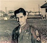 Transferred to Camp Crowder for basic training seemed like going in reverse for Cpl. Doundoulakis, in 1945.