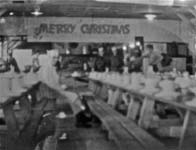 Photo taken by Doundoulakis of the Christmas dinner at Camp Crowder, 1945.